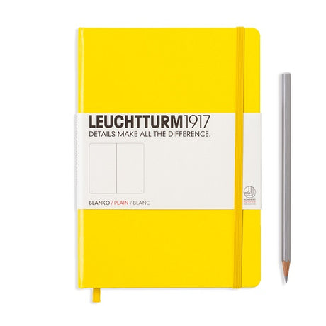 Leuchtturm A5 Plain Notebook - Yellow