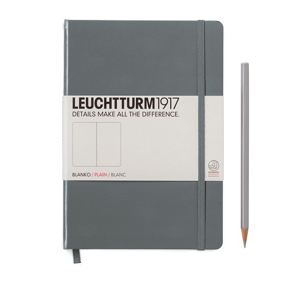 Leuchtturm A5 Plain Notebook - Anthracite Grey