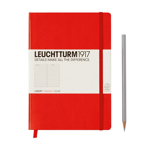 Leuchtturm A5 Ruled Notebook - Red