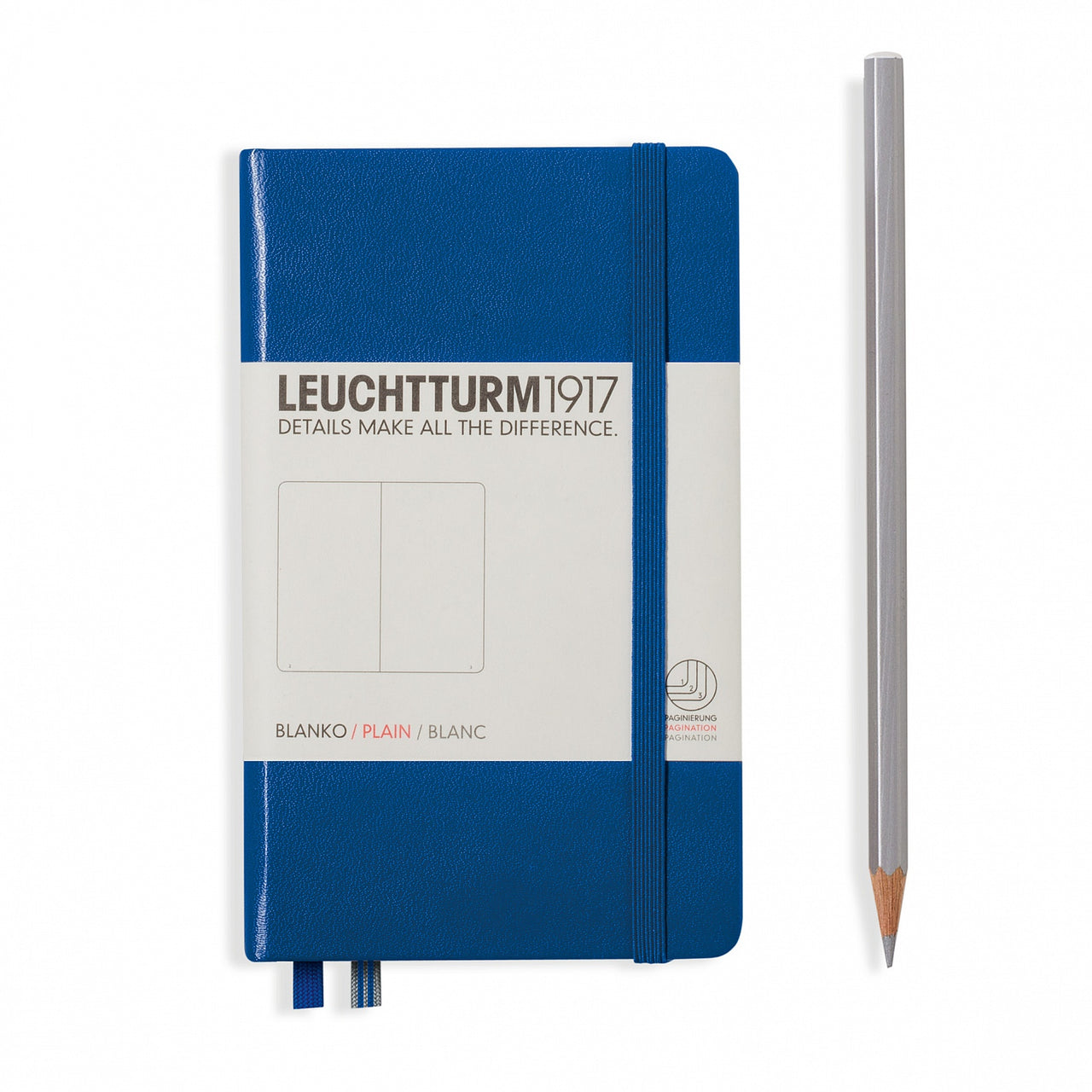 Leuchtturm A6 Plain Notebook - Royal blue