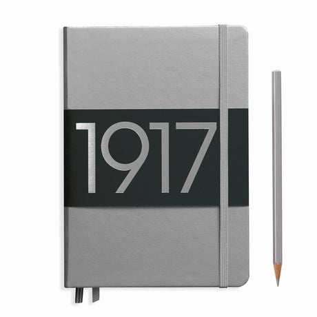 Leuchtturm A5 Plain Notebook - Silver