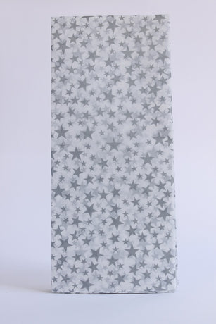 Postmark Tissue Paper - Silver Stars on White