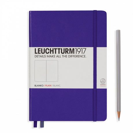 Leuchtturm A5 Plain Notebook - Purple
