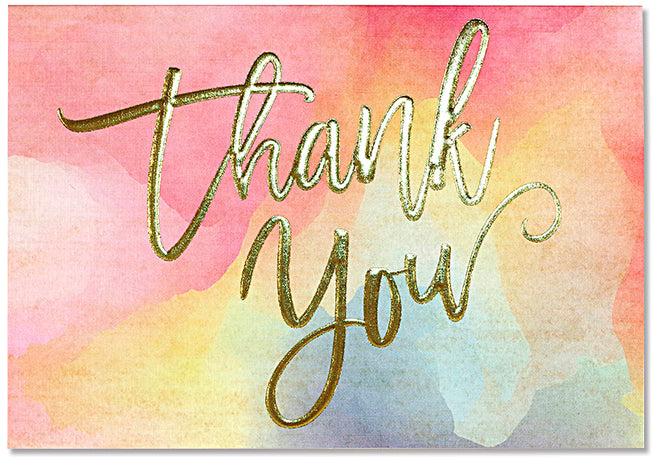 Peter Pauper - Watercolour Thank You Notes x 14