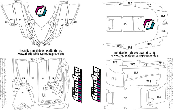 Arctic Cat Decal maps for sled wraps from thedecalden.com