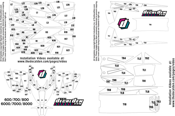 Arctic Cat Decal Maps For Sled Wraps From Thedecalden Thedecaldenrhthedecalden: Wiring Diagram Arctic Cat Proclimb At Gmaili.net