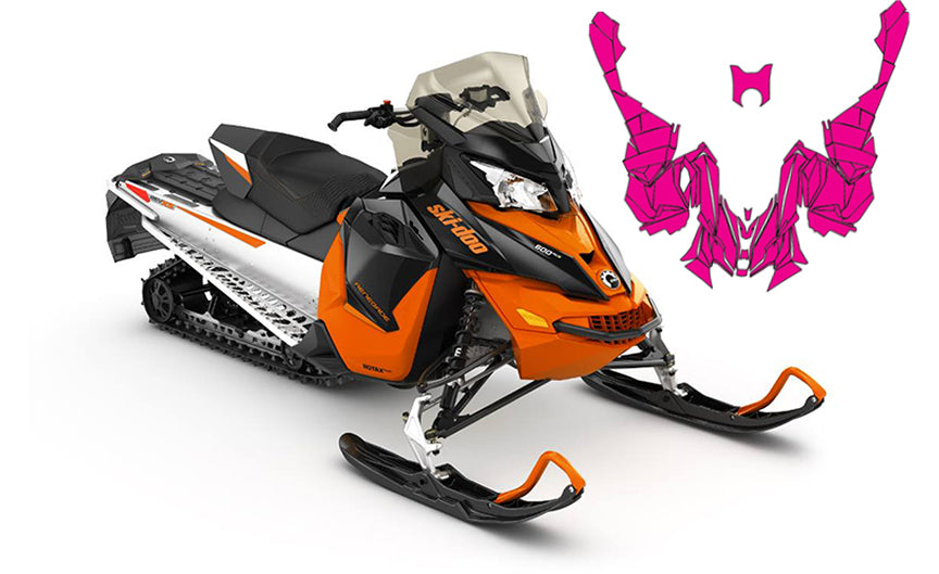 Skidoo Xs Vector Template Snowmobile Sled Wrap Template