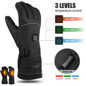 Winter Electric Heated Gloves Waterproof Windproof Touch Screen Motorcycle Skiing Gloves USB Powered Heated Gloves For Men Women