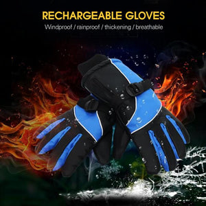 Unisex Cold Warm Gloves Winter Riding Touch Screen Non-slip Rechargeable Heating Gloves Stylish And Comfortable