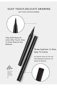 Waterproof Liquid Eyeliner Precision Micro Eye Liner Pen Quick Drying Long Lasting Makeup eyeliners black Pencil
