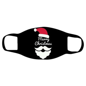 Merry Christmas Reusable Face_Masks for Adult Breathable Mouth Filters with Christmas Tree Santa Claus Pattern Men Women Washable Headband Cover Portable Cotton Face Bandana for festiva