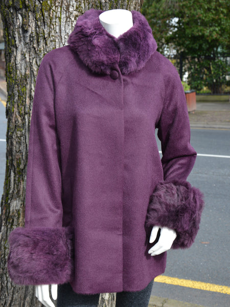 Swing Coat Purple