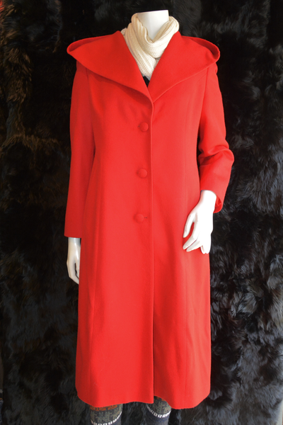 Hooded Coat Red