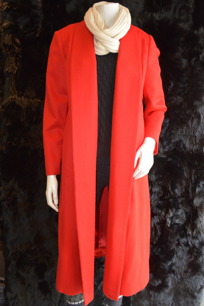 Smokers Collar Coat Red