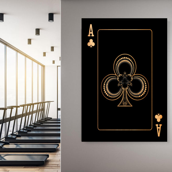 Ace of Clubs - Gold