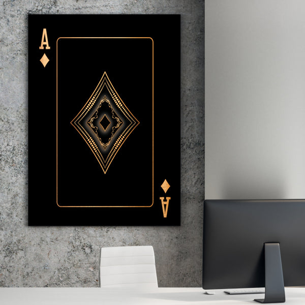 Ace of Diamonds - Gold