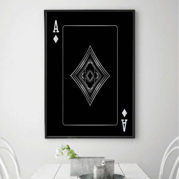 Ace of Diamonds - Silver