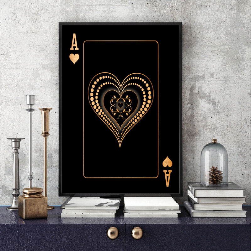 Ace of Hearts - Gold