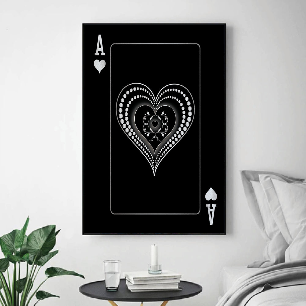 Ace of Hearts - Silver