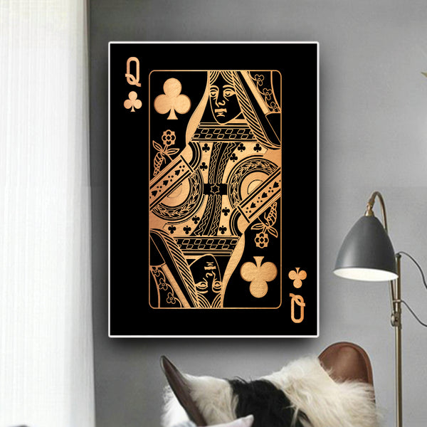 Queen of Clubs - Gold
