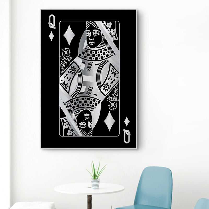 Queen of Diamonds - Silver