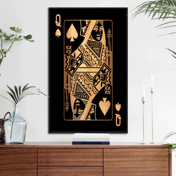 Queen of Spades - Gold