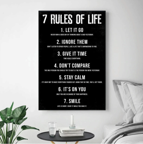 Free Gift - 7 Rules Canvas Print