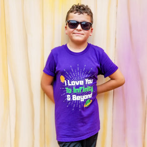 I Love You to Infinity and Beyond Youth Tee