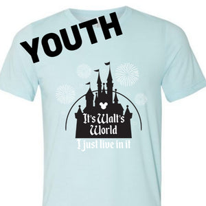 Aqua Walt's World Youth Tee
