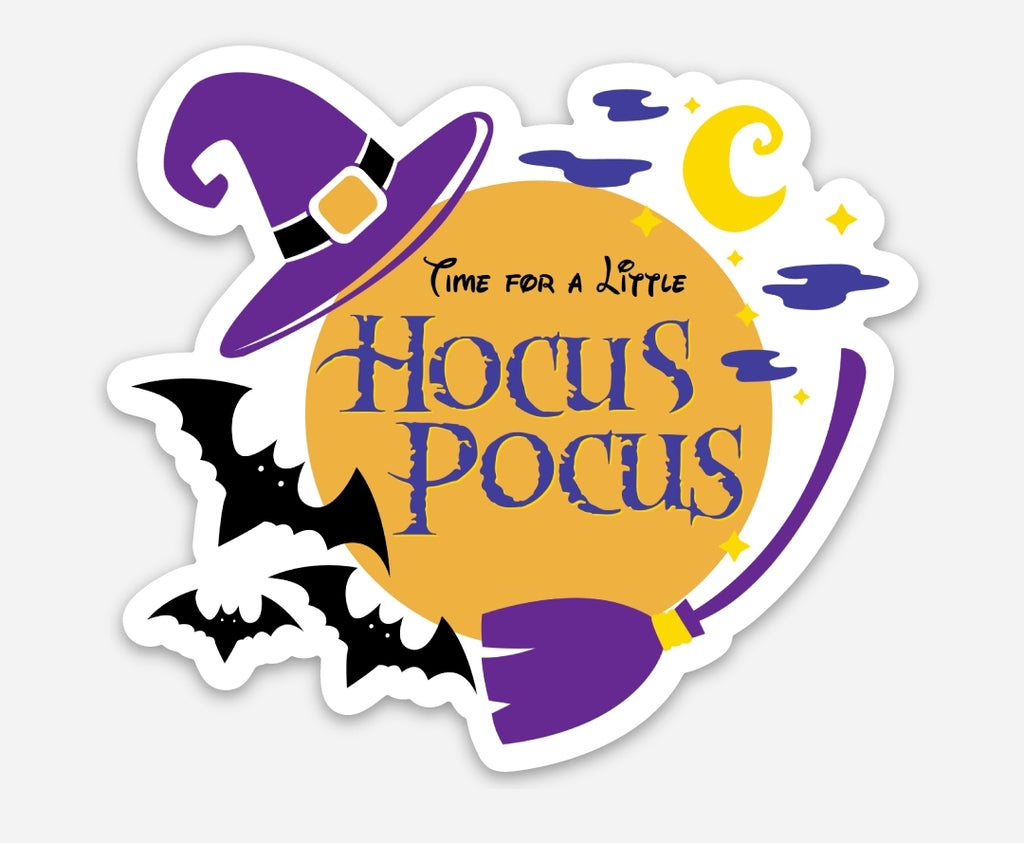 "Time For A Little Hocus Pocus 3"" inch Sticker"