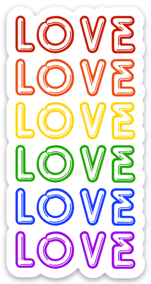 "Love  4"" inch Sticker"