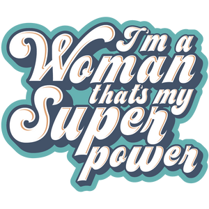 "Superpower 3"" inch Sticker"