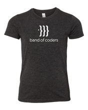 Load image into Gallery viewer, Band of Coders – Youth Crew Neck Tee Shirt (Multiple Colors)
