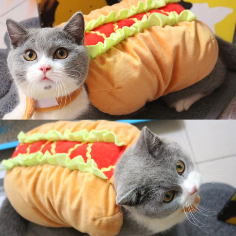 Dog and Cat Costume, Cute Hot Dog Sandwich Costume - World Pet Lovers