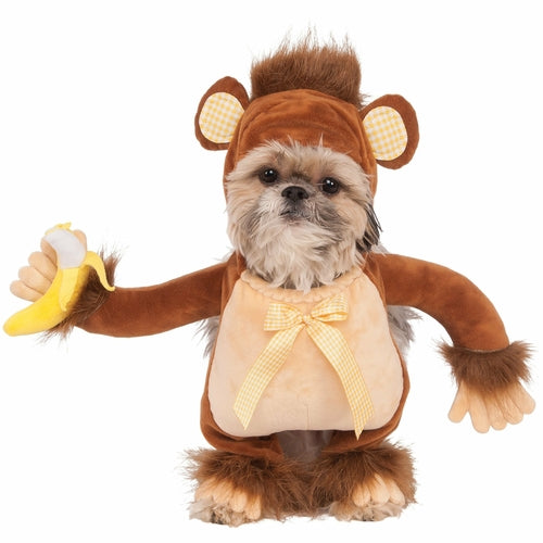 Monkey With Banana Walking Pet Costume - World Pet Lovers