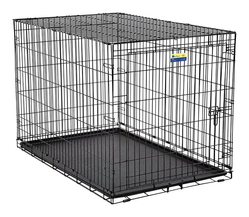 Contour  Extra Large  Steel  Dog Crate  31.9 in. H x 33 in. W x 48 in. - World Pet Lovers
