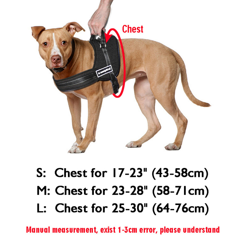 Dog Harness Nylon No Pull Large Dog Harness Quick - World Pet Lovers