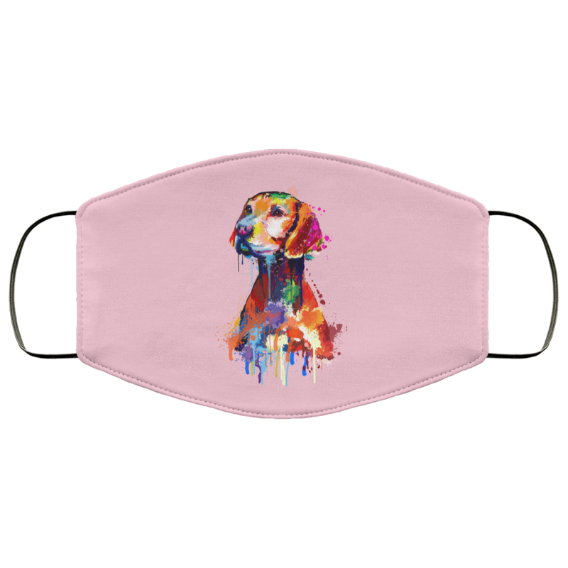 Hand painted vizsla human Face Mask - World Pet Lovers