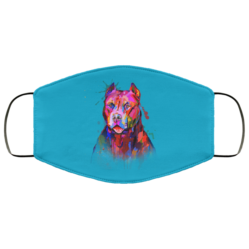 Hand painted pitbull human Face Mask - World Pet Lovers