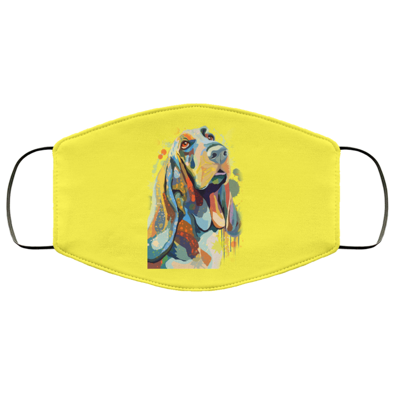 Hand painted bassethound human Face Mask - World Pet Lovers