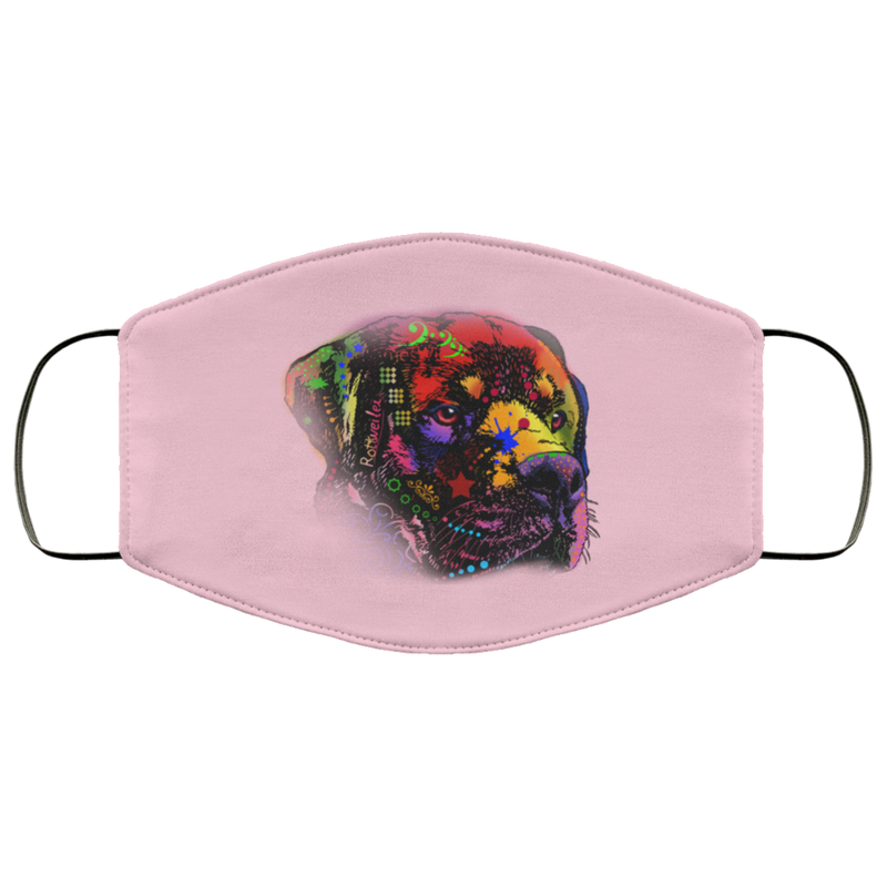 Hand painted rottweiler human Face Mask - World Pet Lovers