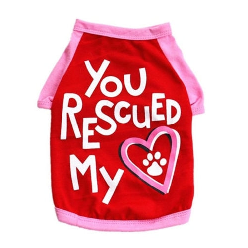 You Rescued My Heart Pet Cat/Dog T Shirt - World Pet Lovers