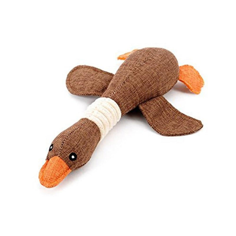 Dog Toy Cartoon Wild Goose Plush Resistance Bite chew toys Squeaky - World Pet Lovers