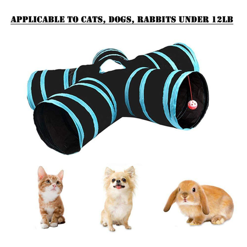 5 Holes Cat Tunnel Foldable Cat play Tunnel toys with ball Kitten Toy - World Pet Lovers