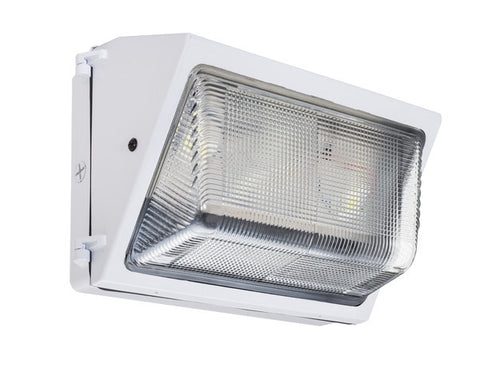 LED Wall Pack - WMFT-100 25W Forward Throw - White