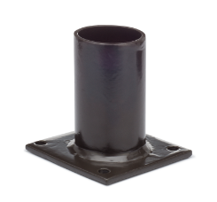 "Square Direct Wall Mount Tenon with 2-3/8"" O.D. Round for Light Fixture - BRONZE T381"