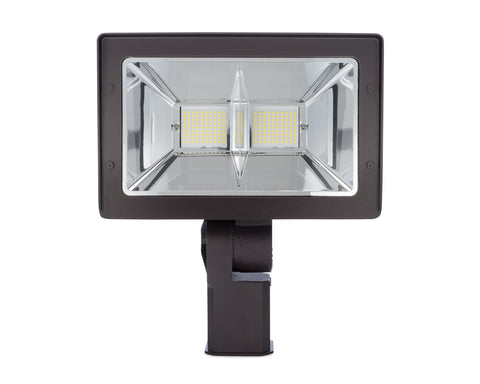Flood Light LED 90W 300 Watt Equal Bronze Slipfitter Mount FL-L-300