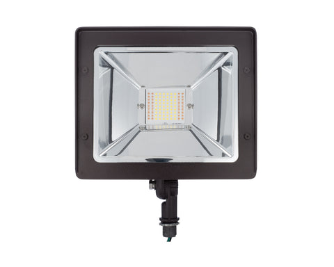 Flood Light LED 60W 200 Watt Equal Bronze Knuckle-Mount FL-S-200
