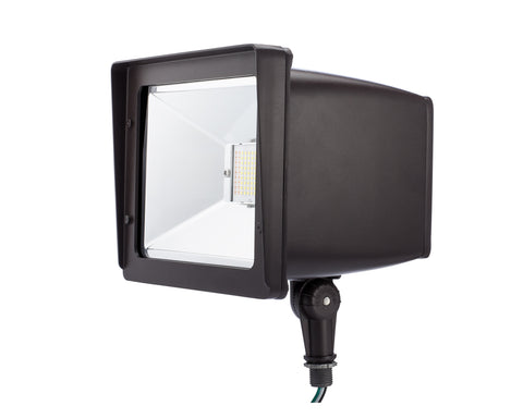 LED Flood Light 30W 100 Watt Equivalent Bronze Knuckle-Mount FL-100
