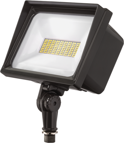 65W LED Flood Light 6908 Lumens Bronze Finish Knuckle Mount - FLD-6L-50K-UV-BRZ-KM